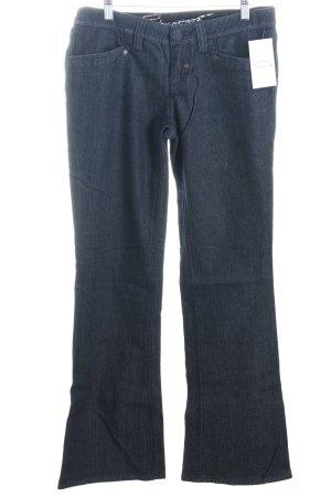 Esprit Boot Cut Jeans dunkelblau Rockabilly-Look
