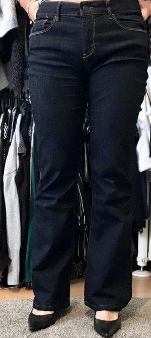 Esprit Boot Cut spijkerbroek donkerblauw