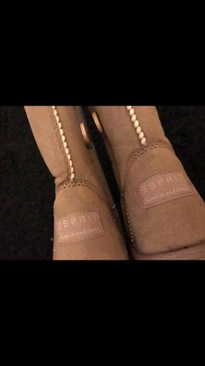 Esprit Stivale a gamba corta marrone chiaro-color cammello