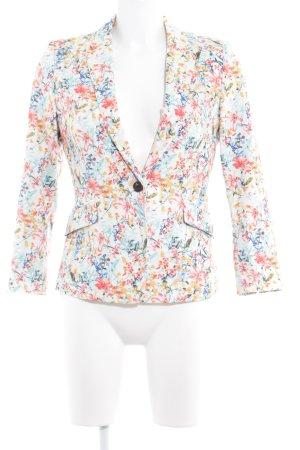Esprit Boyfriend-Blazer florales Muster Casual-Look