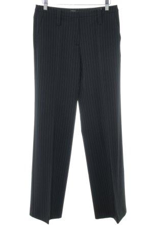 Esprit Pantalone a pieghe nero-bianco motivo a righe stile professionale