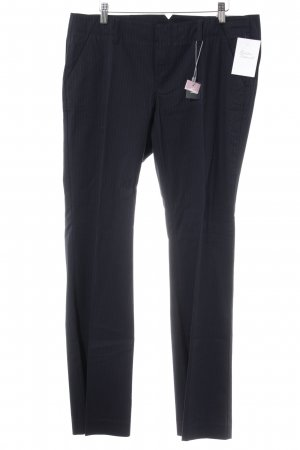 Esprit Pantalon à pinces bleu foncé-blanc rayure fine style d'affaires