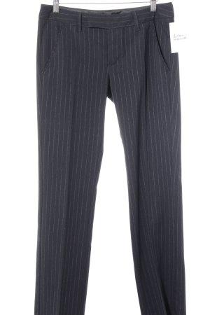 Esprit Bundfaltenhose dunkelblau-weiß Streifenmuster Business-Look