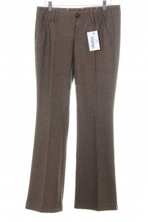 Esprit Pleated Trousers light brown-brown weave pattern business style