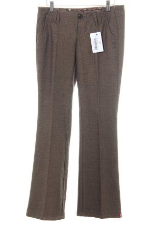 Esprit Pantalon à pinces marron clair-brun Motif de tissage style d'affaires