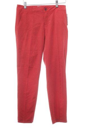 Esprit Bundfaltenhose rot-dunkelrot abstraktes Muster Business-Look