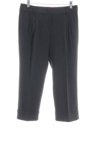 Esprit Pantalon à pinces noir motif rayé style d'affaires