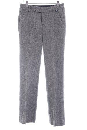 Esprit Pantalon à pinces noir-blanc cassé motif en zigzag style d'affaires