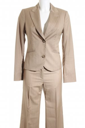 Esprit Business-Anzug beige-creme Nadelstreifen Business-Look