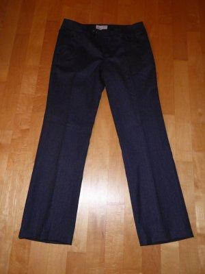 Esprit Business Hose Blau Blaugrau Marine 38 Short Woll-Mix Neu
