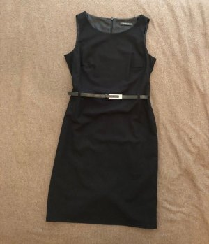 ESPRIT Business-Kleid mit Gürtel, Etuit-Schnitt, Größe 38, schwarz, neuwertig!