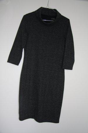 Esprit Business Kleid Winter dreiviertel Arm Stehkragen schwarz weiß grau Gr. S