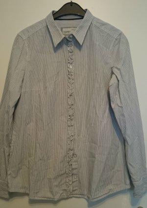 Esprit-Businesshemd weiß mit feinen blauen Streifen Gr. 40