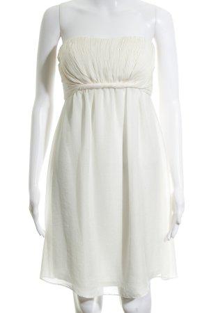 Esprit Vestido bustier crema elegante