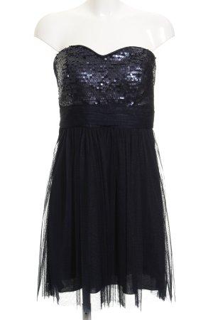 Esprit Vestido bustier azul oscuro elegante