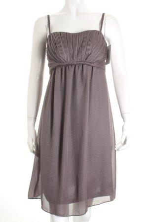 Esprit Vestido bustier gris oscuro reluciente