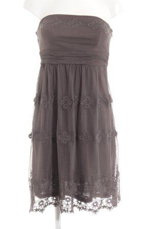Esprit Vestido bustier gris estampado floral estilo romántico