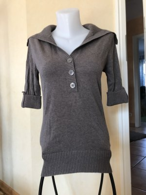 edc by Esprit Short Sleeve Sweater grey brown