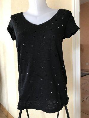 Esprit by Edc T-Shirt schwarz mit Nieten Gr M