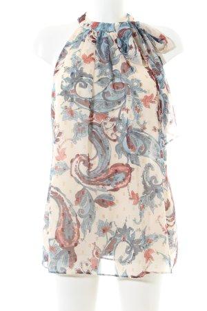 Esprit by Opening Ceremony ärmellose Bluse abstraktes Muster Elegant