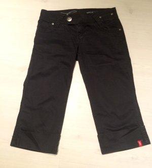 Esprit Caprihose Hose kurz schwarz Größe 36 five EDC