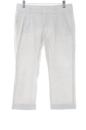 Esprit Pantalón capri blanco puro-beige estampado a rayas look casual