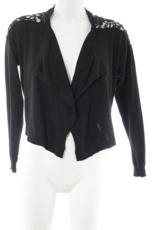 Esprit Cardigan schwarz Webmuster Casual-Look