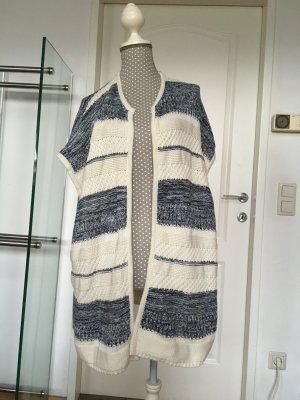 Esprit Grof gebreide trui blauw-wit Gemengd weefsel