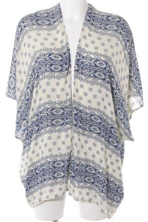 Esprit Cardigan creme-dunkelblau Aztekenmuster Boho-Look