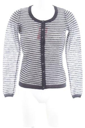 Esprit Cardigan grau-hellgrau Streifenmuster Casual-Look