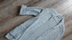 Esprit Coarse Knitted Jacket natural white-azure cotton