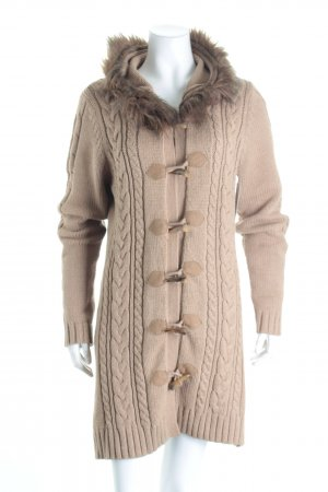 Esprit Cardigan light brown cable stitch street-fashion look