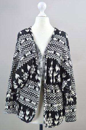 Esprit Cardigan Jacke mit Muster schwarz Größe XS