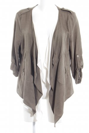 Esprit Cardigan olivgrün-weiß Casual-Look