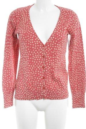Esprit Cardigan rot-weiß Punktemuster klassischer Stil