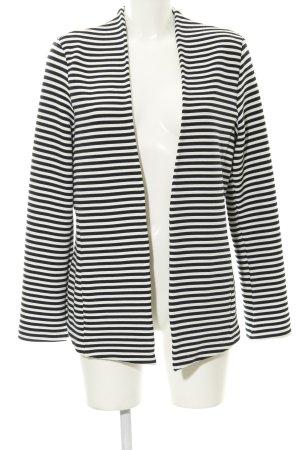 Esprit Cardigan schwarz-weiß Ringelmuster Casual-Look