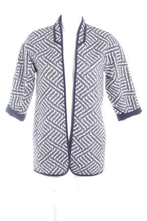 Esprit Cardigan weiß-dunkelblau abstraktes Muster Casual-Look