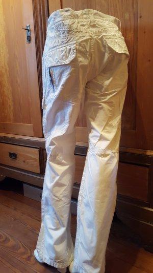 Esprit Pantalón de camuflaje blanco Algodón