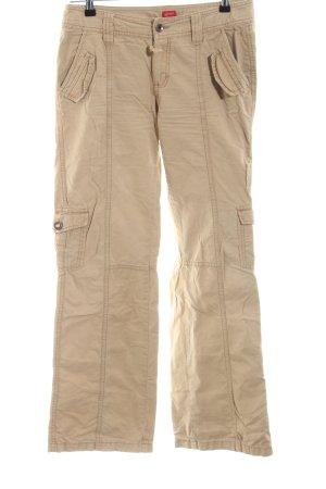 Esprit Pantalone cargo crema stile casual