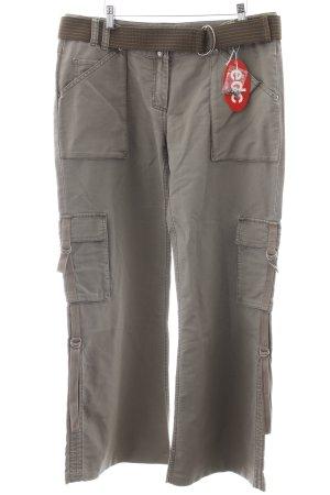 Esprit Pantalón de camuflaje gris verdoso look militar