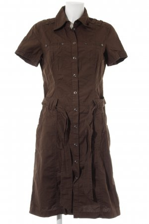 Esprit Vestido de camuflaje marrón oscuro look casual