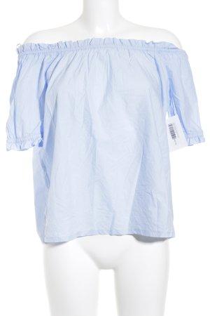 Esprit Carmen-Bluse babyblau Street-Fashion-Look