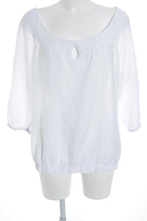 Esprit Carmen-Bluse weiß schlichter Stil