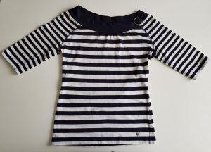 Esprit Carmen Stretch Shirt marine-weiß S Maritim Style