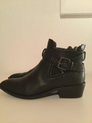 Esprit Chelsea laarzen zwart-zilver