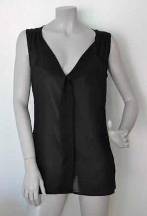 Esprit Chiffon Bluse Polyester schwarz Gr. 40 WIE NEU