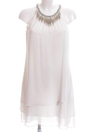 Esprit Vestido de chifón blanco estilo fiesta
