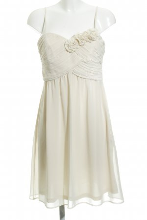 Esprit Vestido de chifón crema elegante