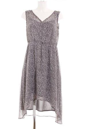 Esprit Chiffonkleid grau-weiß Punktemuster Casual-Look