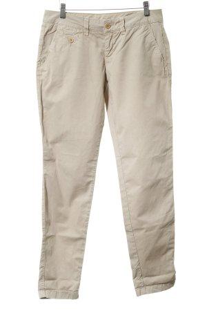 Esprit Pantalon chinos crème style décontracté